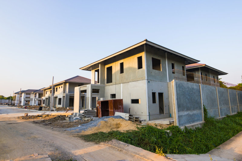 Building and Construction site of new home