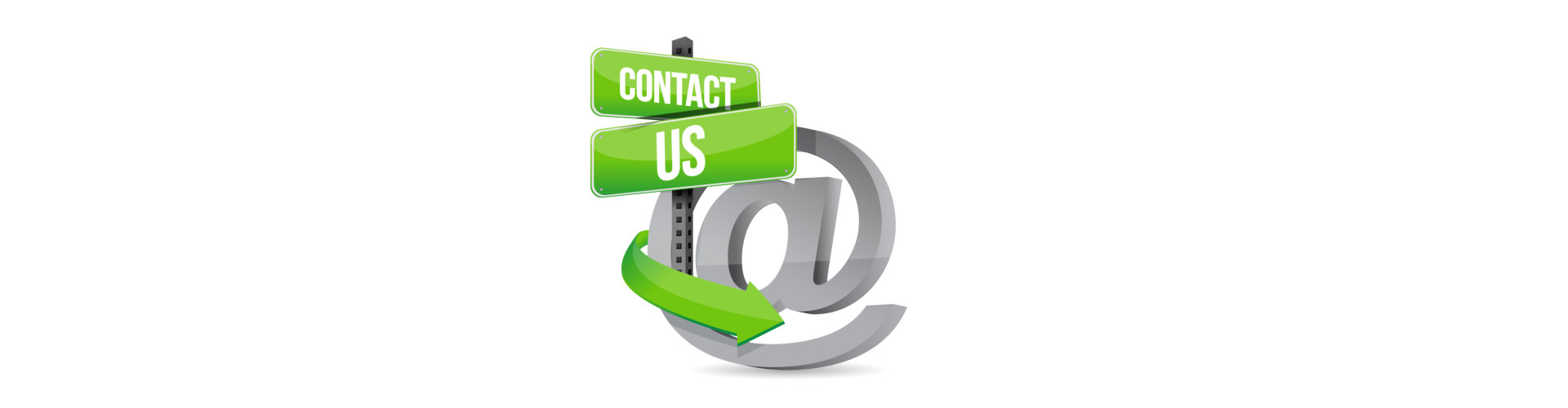 e-mail contact us at sign illustration design over white